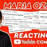 Maria Ozawa | Reacting to YouTube Comments(Thank you for comments!)